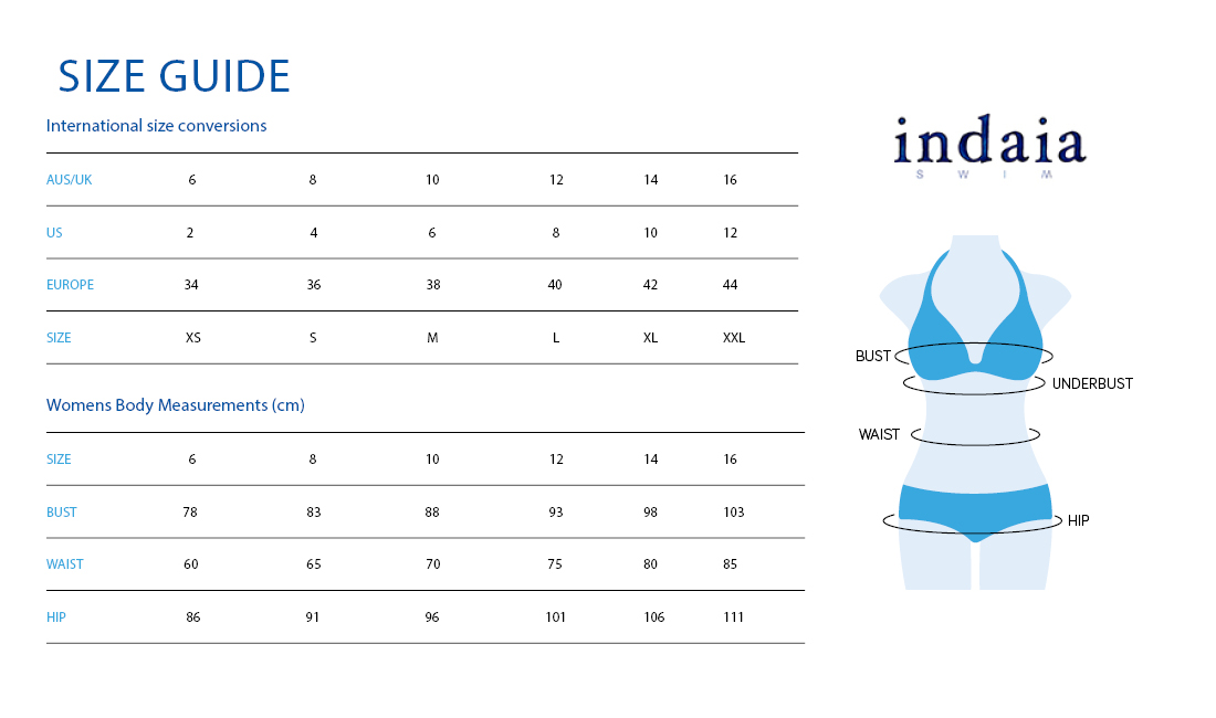 Indaia size guide